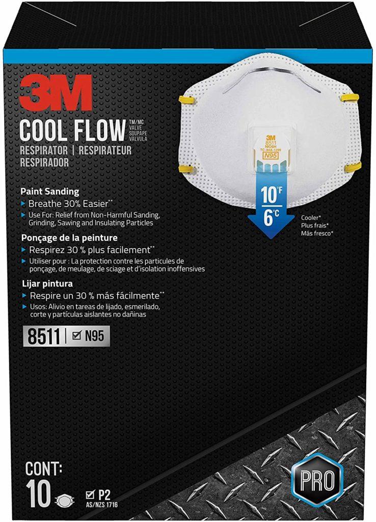 3M 8511 N95 Pro Paint Vented Respirators